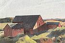 Cobbs Barns South Truro c1930 - Edward Hopper