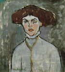 Head of a Young Woman 1908 - Amedeo Modigliani