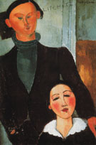Jacques and Berthe Lipchitz 1916 - Amedeo Modigliani
