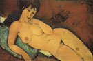 Nude on a Blue Cushion 1917 - Amedeo Modigliani