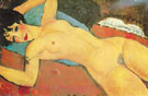 Sleeping Nude with Arms Open Red Nude 1917 - Amedeo Modigliani
