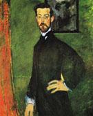 Portrait of Paul Alexandre against a Green Background 1909 - Amedeo Modigliani