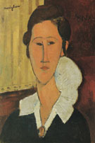 Portrait of Anna Zborovska 1917 - Amedeo Modigliani