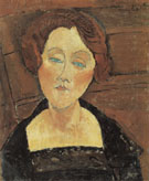 Woman with Red Hair and Eyes 1917 - Amedeo Modigliani