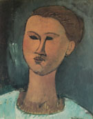 Head of a Woman 1915 - Amedeo Modigliani