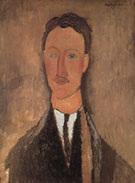 Portrait of Leopold Survage c1917 - Amedeo Modigliani