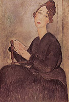 Seated Woman Dedie Hayden 1918 - Amedeo Modigliani