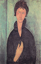 Woman with Blue Eyes 1918 - Amedeo Modigliani