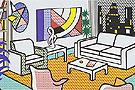 Interior with Skyline - Roy Lichtenstein