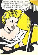 Girl at Piano - Roy Lichtenstein