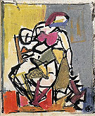 Small Seated Figure c1947 - Franz Kline