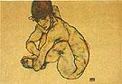 Kauernder Weiblicher Akt 1914 - Egon Schiele