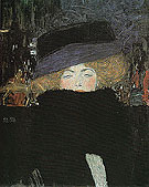 Lady with Hat and Feather Boa 1909 - Gustav Klimt