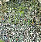 Garden Landscape with Hilltop 1916 - Gustav Klimt