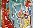 The Artist and His Model II 1955 - Hans Hofmann