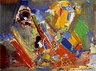 Variation of a Theme in Blue II 1956 - Hans Hofmann