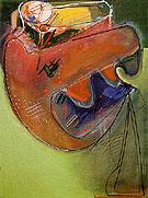 The Bird and the Cat 1949 - Hans Hofmann