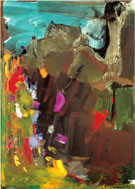 And Out of the Caves the Night Threw a Handful of Pale Tumbling Pigeons into the Light - Hans Hofmann