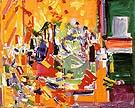 Orchestral Dominance in Yellow 1954 - Hans Hofmann