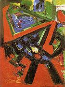 Red Flight 1953 - Hans Hofmann