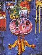 Interior no 1 Pink Table Yellow Tulips 1939 - Hans Hofmann