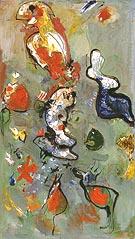 The Fish and the Bird 1945 - Hans Hofmann