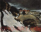 Snow Thaw in L Estaque c1870 - Paul Cezanne