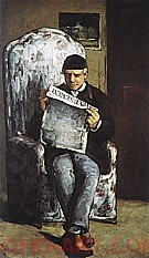Loius Auguste Cezanne the Artists Father Reading 1866 - Paul Cezanne