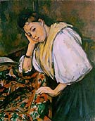 Young Italian Girl Resting on Her Elbow 1910 - Paul Cezanne