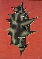 Holly Leaf on Red Background 1928 - Fernand Leger