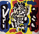 Divers on a Yellow Background 1941 - Fernand Leger