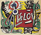 Tree Trunks on Yellow Ground 1945 - Fernand Leger