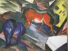 Red Horse and Blue Horse 1912 - Franz Marc