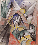 Landscape with Two Horses 1913 - Franz Marc