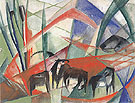 Landscape with Black Horses 1913 - Franz Marc