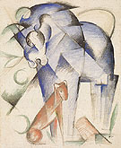 Horse and Dog 1913 - Franz Marc