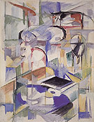 Composition with Animal 1913 - Franz Marc