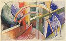 Blue Horse with a Rainbow 1913 - Franz Marc