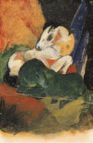Green Horse and White Horse 1913 - Franz Marc