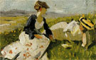 Two Woman on the Hillside Sketch 1906 - Franz Marc