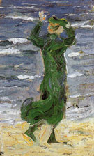 Woman in the Wind by the Sea 1907 - Franz Marc
