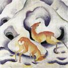 Deer in the Snow - Franz Marc