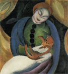 Girl with Cat 1912 - Franz Marc