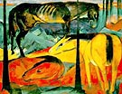 The Three Horses 1912 - Franz Marc