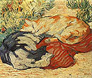 Cats on a Red Cloth 1909 - Franz Marc