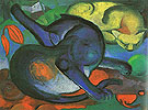 Two Cats 1912 - Franz Marc