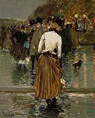 Promenade at Sunset Paris 1888 - Childe Hassam