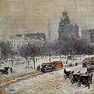 Winter in Union Square 1889 - Childe Hassam