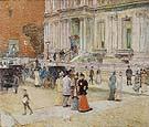 The Manhattan Club the Stewart Mansion 1891 - Childe Hassam