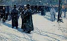Cab Stand at Night Madsion Square 1891 - Childe Hassam